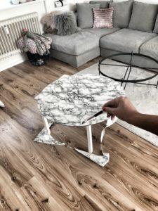Easyinterieur DIY Marmortisch schneiden