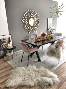 Easyinterieur Diy Stoff Kürbis dekoriert im Esszimmer