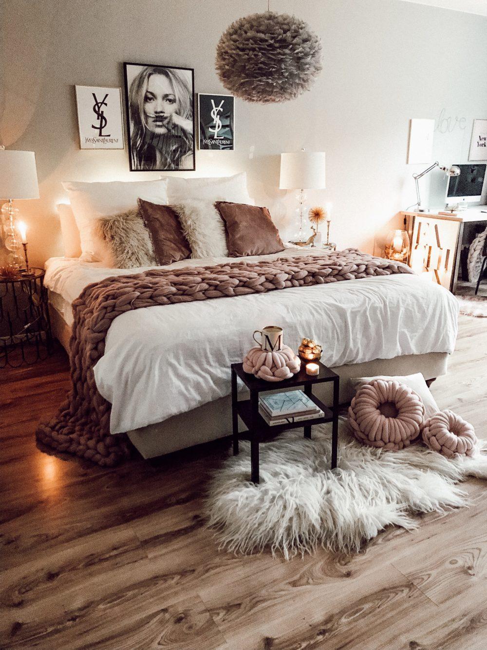 Herbstdekoration Schlafzimmer