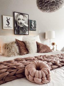 Easyinterieur Herbstdekoration Kissen Decke