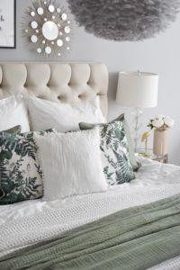 Grüne Kissen Schlafzimmer