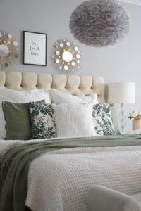 Schlafzimmer in Grün